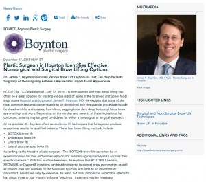 plastic surgeon in houston,surgical brow lift,nonsurgical brow lift,dr james boynton