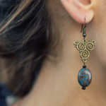 Ear with an earring